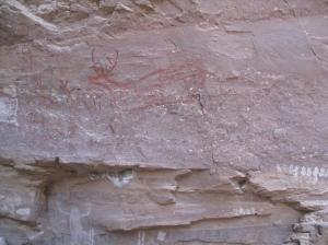La Trinidad deer and handprints